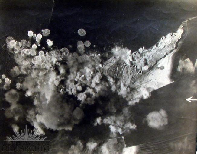 0081-07-bomb over Heligoland - Apr 1945